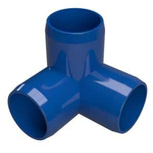 1 in. Furniture Grade PVC 3-Way Elbow in Blue (4-Pack)