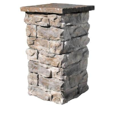Brown 42 in. Outdoor Decorative Column