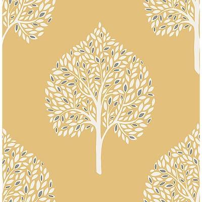 Grove Mustard Tree Mustard Wallpaper Sample