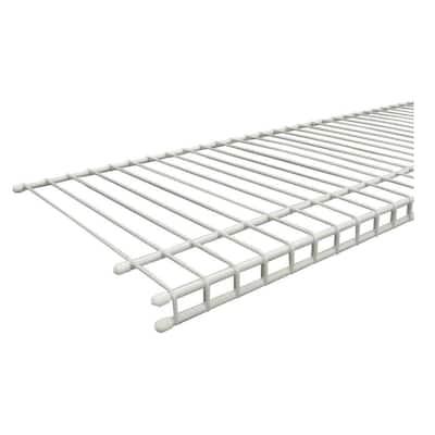 SuperSlide 96 in. W x 12 in. D White Ventilated Wire Shelf