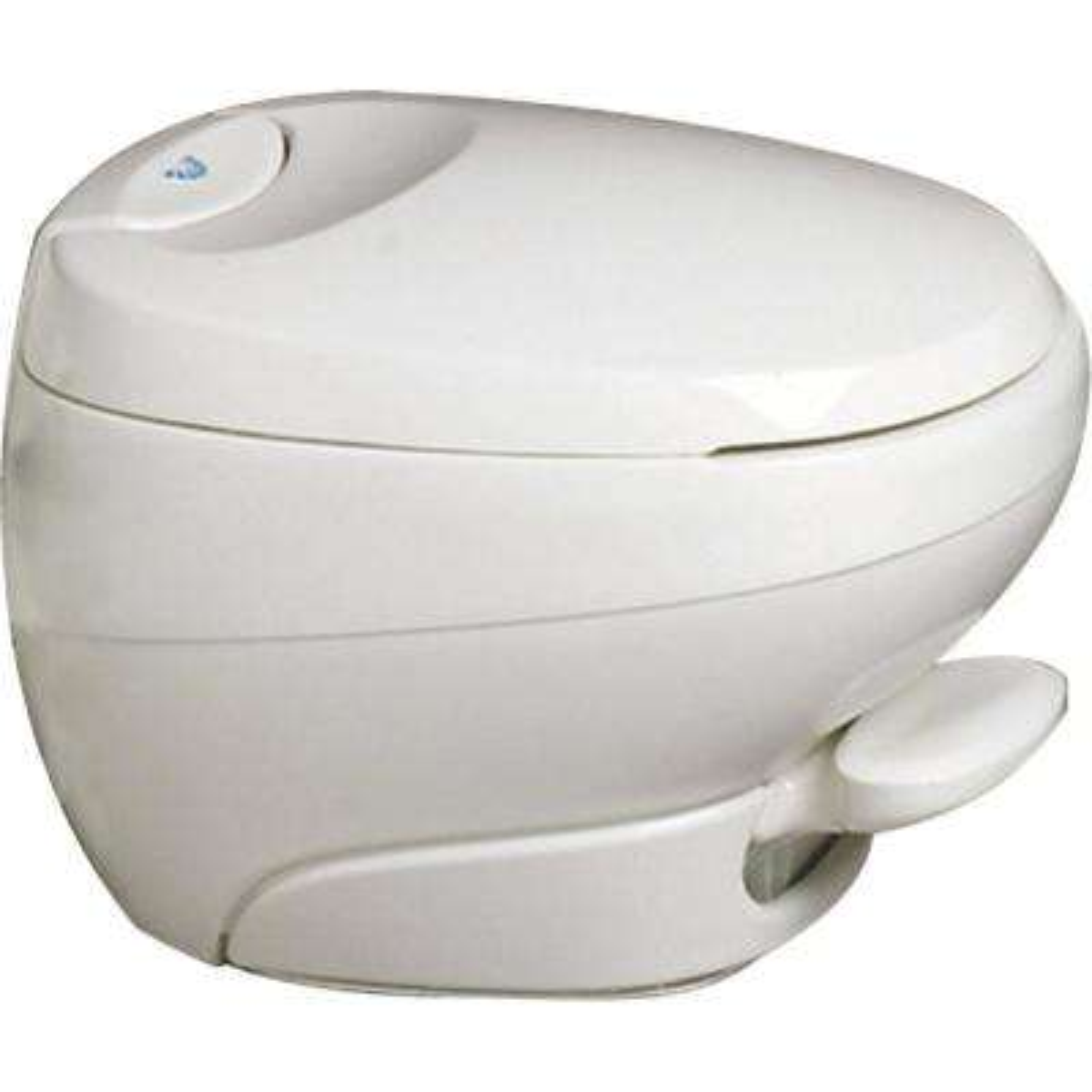Aqua-Magic Low Profile Bravura Permanent RV Toilet - Off White