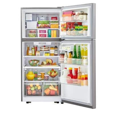 30 in. 20.2 cu. ft. Top Freezer Refrigerator with LED Lighting, SmartDiagnosis and Multi-Air Flow in Stainless Steel