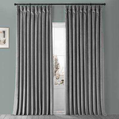 Gray Velvet Curtains Window, How To Clean Lined Velvet Curtains