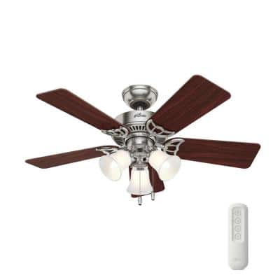 Southern Breeze 42 in. Indoor Brushed Nickel Ceiling Fan with LED Light Kit and Remote