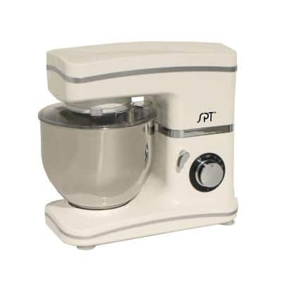 5.5 Qt. 8-Speed White Stand Mixer with Whisk, Kneading Hook and Mixer Blade