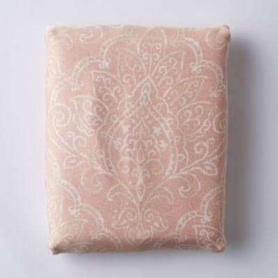 Grand Paisley Coral 300-Thread Count TENCEL Lyocell Sateen Twin Fitted Sheet