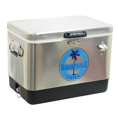 LandShark Lager 54 qt. Stainless Steel Chill Cooler