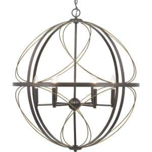 Brandywine Collection 6-Light Antique Bronze Pendant