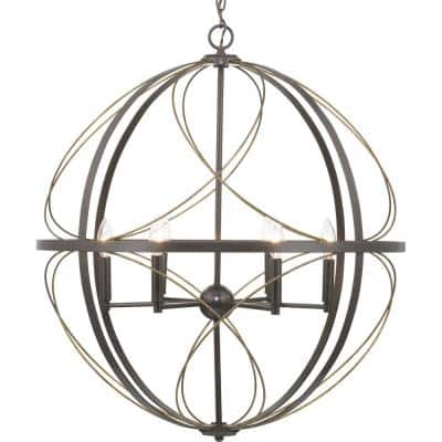 Brandywine Collection 6-Light Antique Bronze Pendant