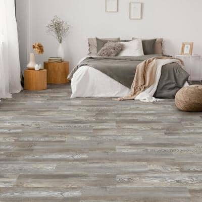 7.1 in. W x 47.6 in. L Ash Clay Click-Lock Luxury Vinyl Plank Flooring (28 cases/656.32 sq. ft./pallet)