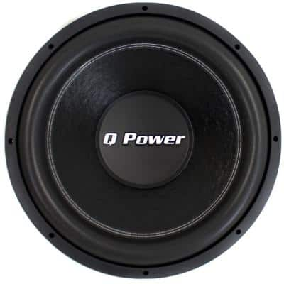 15 in. 2200-Watt Deluxe Series Dual Voice Coil Car Audio Power Subwoofer
