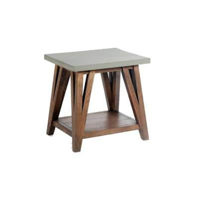 Concrete End Tables Accent Tables The Home Depot