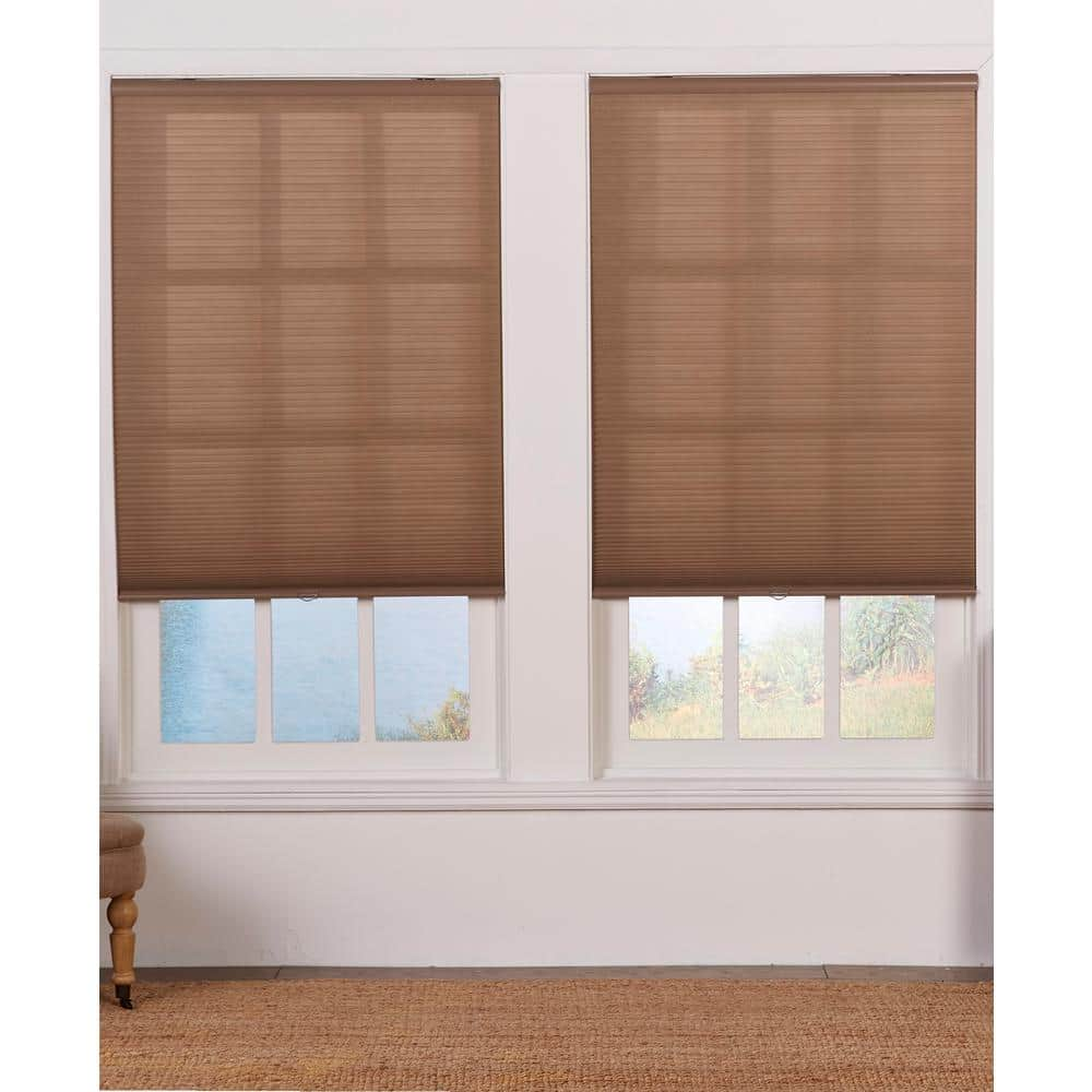 Perfect Lift Window Treatment Cut To Width Linen Cordless Light Filtering Cellular Shade 23 5 In W X 72 In L Qcln234720 The Home Depot