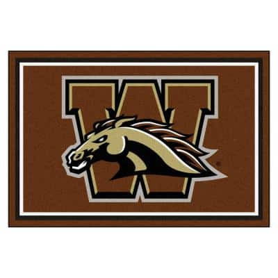 NCAA - Western Michigan University Brown 8 ft. x 5 ft. Indoor Area Rug