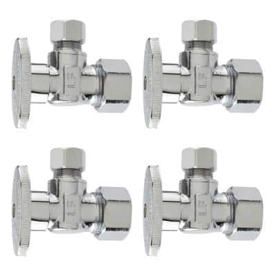 5/8-in. x 3/8-in. Compression Multi-Pack Quarter Turn Angle Valves