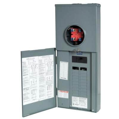 Homeline 150 Amp 20-Space 40-Circuit Outdoor Ringless-Horn Overhead/Underground Main Breaker CSED