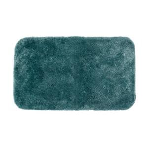 Royal Persian Blue 24 in. x 40 in. Nylon Machine Washable Bath Mat