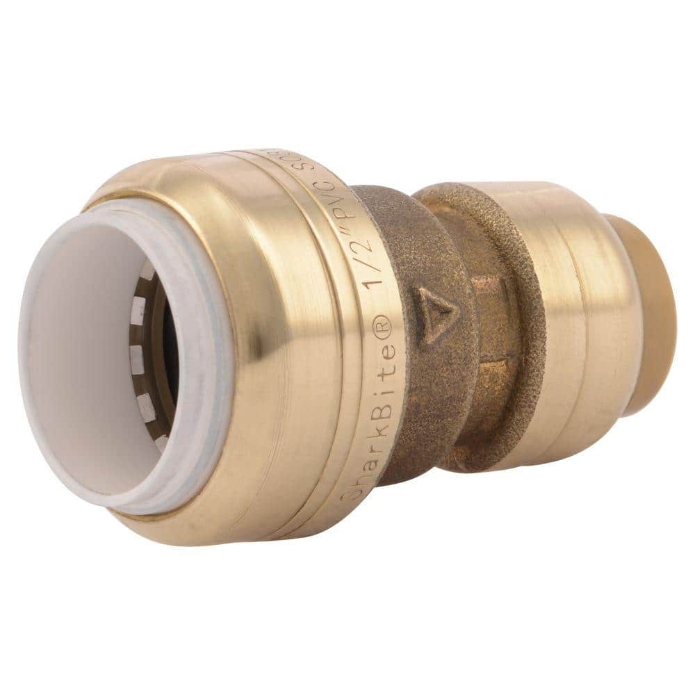 SharkBite 1/2 in. Push-to-Connect PVC IPS x CTS Brass Conversion Coupling Fitting