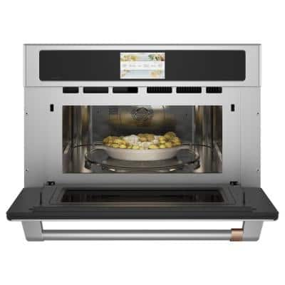 30 in. 1.7 cu. ft. Smart Electric Wall Oven and Microwave Combo with 120 Volt Advantium Technology in Stainless Steel