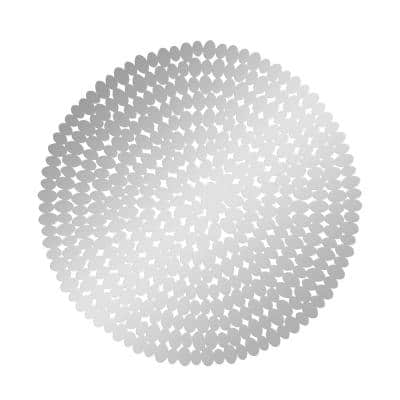 1 in. x 31 in. Silver Stainless Steel Glam Wall Decor