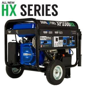 5500/4500-Watt Dual Fuel Gasoline/Propane Portable Generator w/ CO Alert Shutdown Sensor