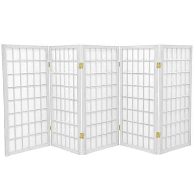 3 ft. White 5-Panel Room Divider