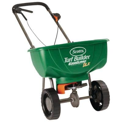 15,000 sq. ft. Turf Builder EdgeGuard DLX Broadcast Spreader for Seed, Fertilizer, and Ice Melt