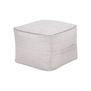 Cindy Shadow Gray Outdoor Pouf