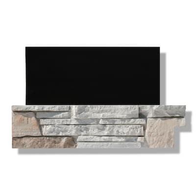6 in. x 24 in. Stone Veneer Ledgestone Pre-cut Corners Dover Cliff (Box of 8)