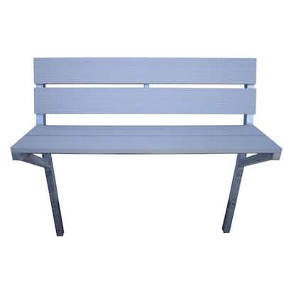 4 ft. Aluminum Bench Kit in Gray
