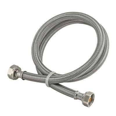 1/2 in. FIP x 48 in. Braided Stainless Steel Faucet Connector