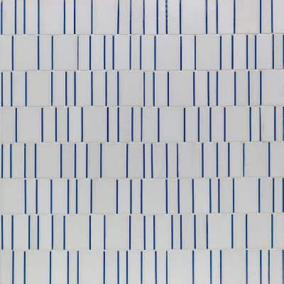Kerrie Kelly Sky 12 in. x 12 in. Polished Marble and Glass Mosaic Tile (1 sq. ft./Each)