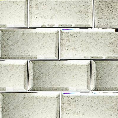Vintage Mirror Beveled 3 in. x 6 in. Glass Wall Tile (32 Pieces, 4 sq. ft./Case)
