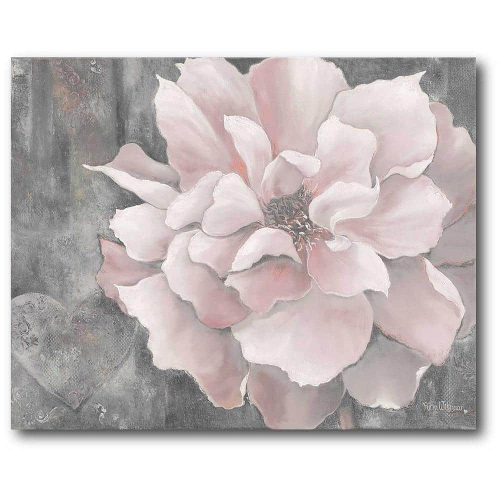 16 In X 20 Pink And Gray Magnolia Canvas Wall Art Web Sc329 The Home Depot