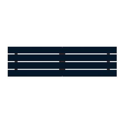 Rockefeller 106.69 in. Tatiana Midnight Blue Headboard