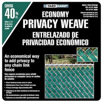 4 ft. H x 250 ft. W Green Economy Vinyl Fence Weave