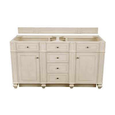Bristol 60 in. W Bathroom Double Vanity Cabinet Only in Vintage Vanilla