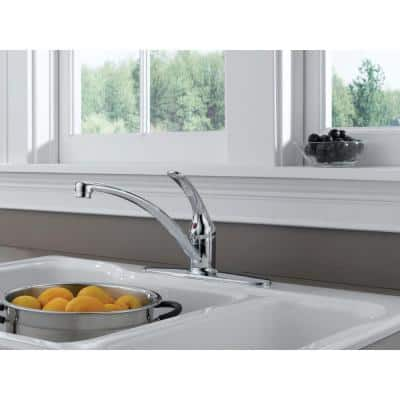 Foundations Single-Handle Standard Kitchen Faucet in Chrome