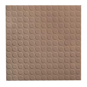 Vantage Circular Profile 19.69 in. x 19.69 in. Fig Rubber Tile