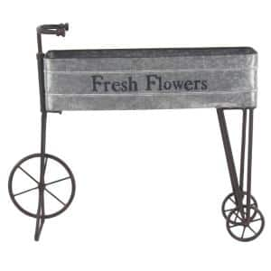 Farmhouse 34 x 42 inch iron and aluminum bicycle planter