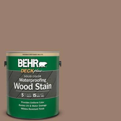 1 gal. #SC-148 Adobe Brown Solid Color Waterproofing Exterior Wood Stain
