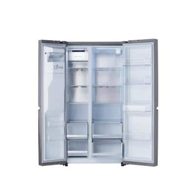 27 cu .ft. Side by Side Refrigerator with Door-in-Door, Dual Ice Maker with Craft Ice in PrintProof Stainless Steel