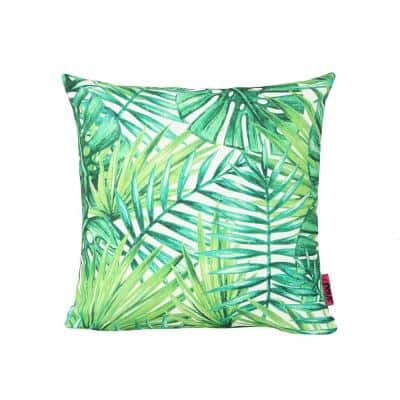 Palms Green Square Outdoor Throw Pillow