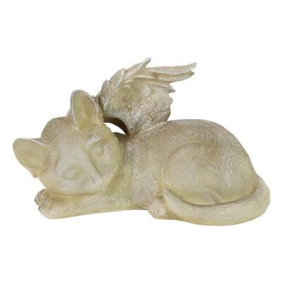 Solar Sleeping Cat Memorial Garden Statue