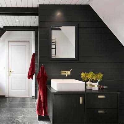 1 in. x 8 in. x 8 ft. UFP-Edge Timeless Midnight Black Smooth Nickel Gap Shiplap (4-pack)