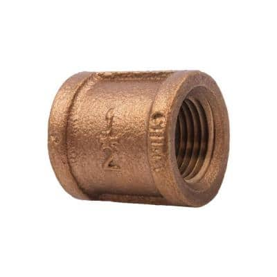 1/2 in. Red Brass Coupling