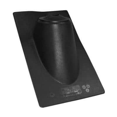 All-Flash No-Calk 11 in. x 19 in. Plastic Hi-Rise Vent Pipe Roof Flashing with 1-1/2 in. - 3 in. Adjustable Diameter