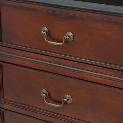 Furniture Hardware 4 in. Center-to-Center Antique Brass Bail Pull