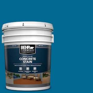 5 gal. #OSHA-1 OSHA SAFETY BLUE Solid Color Flat Interior/Exterior Concrete Stain
