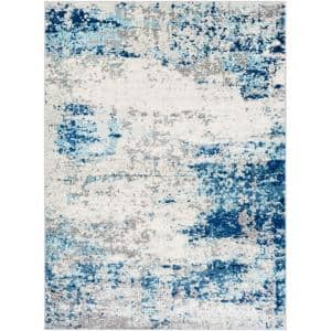 Russell Aqua 6 ft. 7 in. x 9 ft. Area Rug